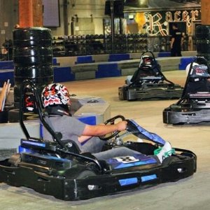$52.50 for Four 16-Lap Go-Kart Races for Adults of Four 11-Lap Go-Kart Races for Juniors at Racer's Edge Indoor Karting ($92 Value)