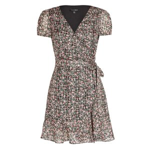 IntermixElle Floral Silk-Cotton Wrap Dress