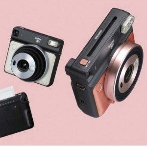 只要119.99欧FUJIFILM instax SQUARE SQ6  拍立得 便携相机 支持自拍、滤镜和微距拍照