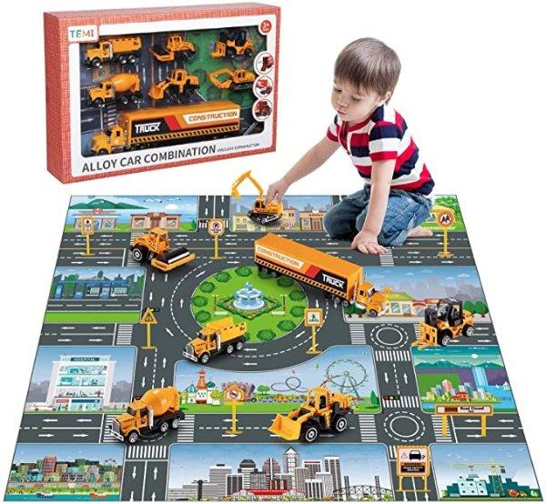 工程车辆玩具套装-建筑