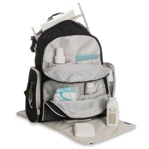 $25Graco Gotham Smart Organizer System Back Pack Diaper Bag, Black/Grey