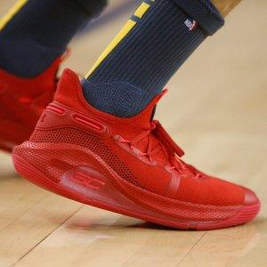 满减100,变相9折Under Armour中国官网 新年红热卖  收杰伦、昆凌同款Curry 6篮球鞋