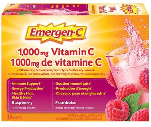 $10.44(原价$13.99)Emergen-C 覆盆子味维C冲剂 抗感冒神器