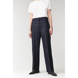 COSSTRAIGHT WOOL-CASHMERE PANTS