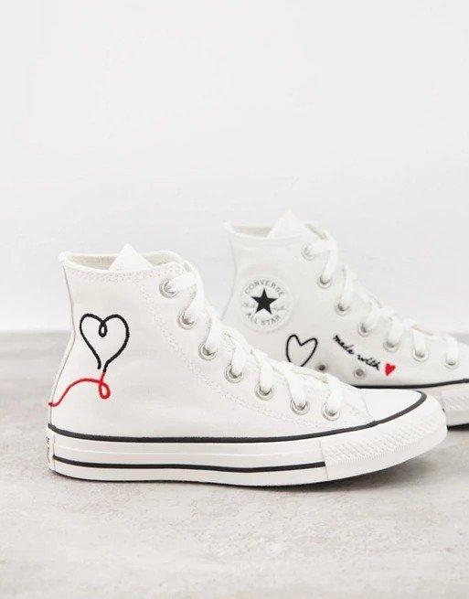Chuck Taylor All Star Hi Love 爱心高帮帆布鞋