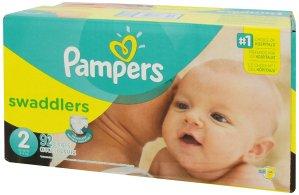 $19.99(原价$29.99)Pampers Swaddlers 帮宝适纸尿裤 ,多种尺寸数量可选