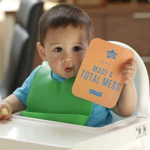 $7.47  宝宝吃饭必备Tommee Tippee 宝宝防漏围兜 2个装