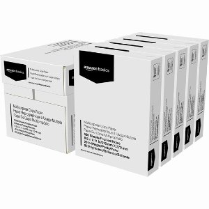 仅$5.79/包 (原价$45.99)史低价:AmazonBasics 多用途复印打印纸 500页 x 5包