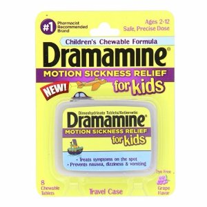 $2.88Dramamine Motion Sickness Relief for Kids, Grape Flavor, 8 Count