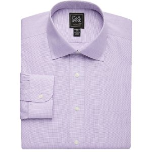 Traveler Collection Tailored Fit Spread Collar Pinpoint Dress Shirt