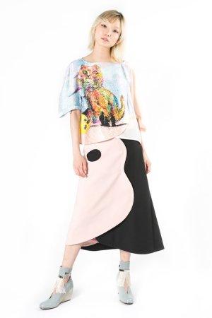 """Bilbao Cat"" Silk Blouse | Tsumori Chisato Online Store – A-net Brands"