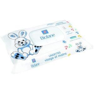 Biolane7.6折+订阅8折,用于婴儿面部/手部清洁湿巾 *64张