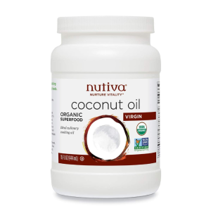$9.97(原价$11.99)Nutiva 有机特级冷榨椰子油 444ml  护发神器 健康饮食