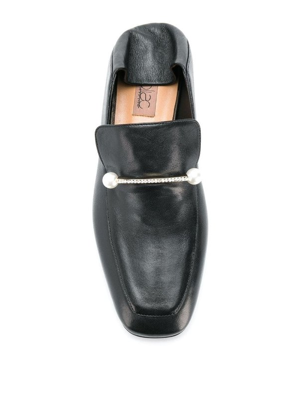 珍珠踩跟乐福鞋