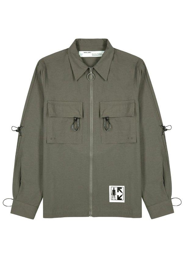 拉绒斜纹布外套