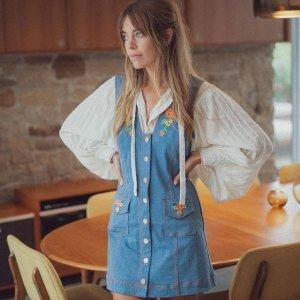 低至3折 Ganni格纹裙$123上新:FARFETCH 仙气美裙专场 封面牛仔裙$207