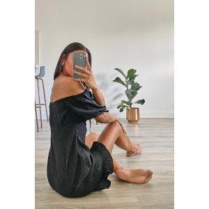 BoohooTall Off The Shoulder Puff Sleeve Mini Dress | boohoo