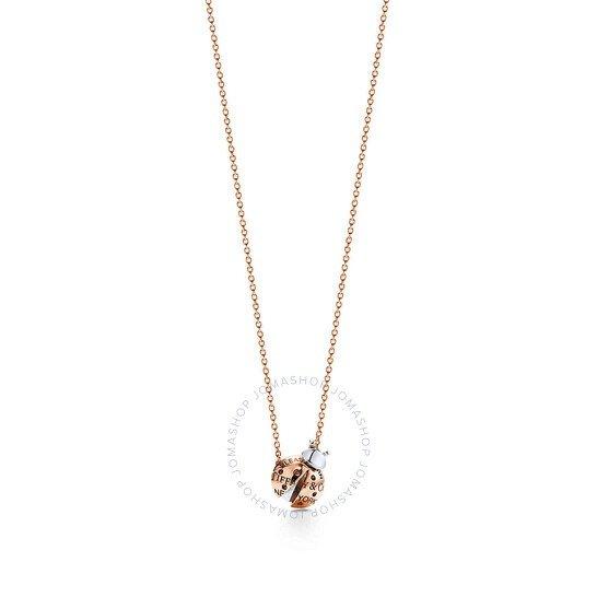 Tiffany 18k玫瑰金项链