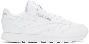 Reebok Classics: White Leather Classic Sneakers | SSENSE