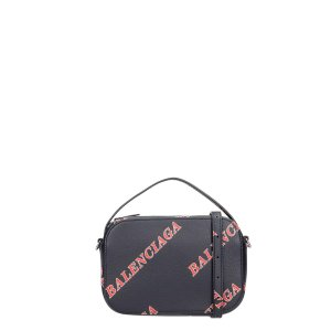 BalenciagaEveryday Cam Xs Hand Bag In Black Leather