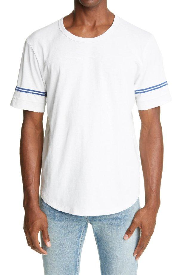 Stripe Distressed LogoT恤