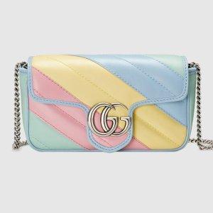 樱花粉、雾霾蓝、鹅黄色上新:Gucci 最新马卡龙配色Marmont包包 棉花糖般的梦境