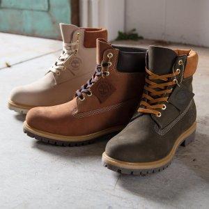 低至5折+免邮!€49收大童款登山靴Timberland官网 精选工装靴、男女服饰春季热促