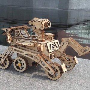Robotime 3D Wooden Puzzle DIY Solar Car Kit