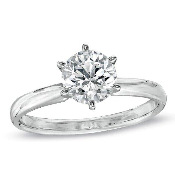 1克拉钻石戒指