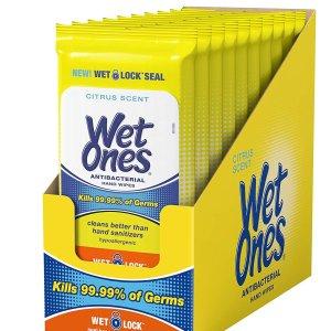 $9.65 包邮Wet Ones 抗菌清洁湿巾 10包