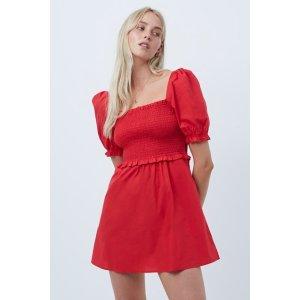 French ConnectionRhodes Organic Poplin Square Neck Dress