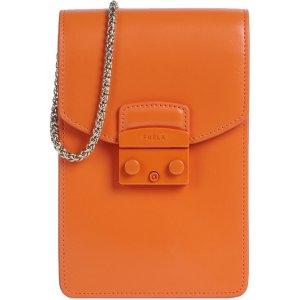Furla亮橙手机包