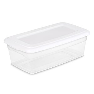 白菜价:Sterilite 6夸脱透明收纳盒
