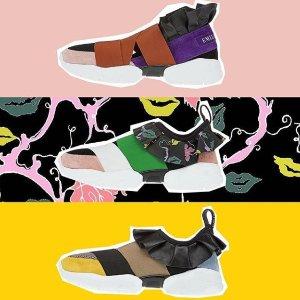 全场85折,经典LogoT闭眼入最后一天:Emilio Pucci 少女心运动鞋,色彩构成脚尖艺术品