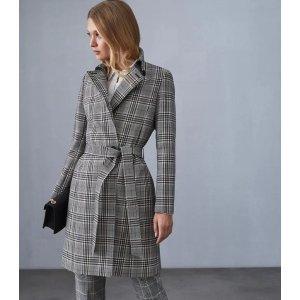 Reiss格纹大衣