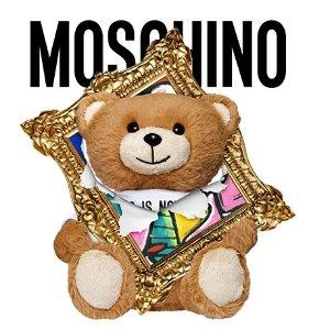 低至5折+免所有税费夏日必败:Moschino 可爱泰迪熊 $155到手价收logo短袖