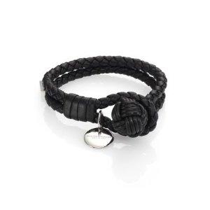 Bottega Veneta- Leather Knot Logo Bracelet