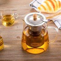 HIHUOS 玻璃茶壶 950ml 可放电炉直接加热