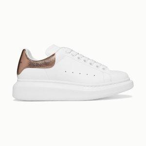 Alexander McQueen定价优势!官网$780金尾小白鞋