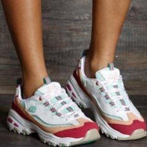 额外7.5折+包邮独家:Skechers D'Lites 爆款熊猫鞋折上折