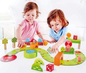 Hape Sunny Valley Play Wood Toy Blocks