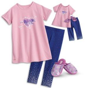 American GirlLuciana Vega's 娃娃睡衣,还有女孩配套睡衣可选