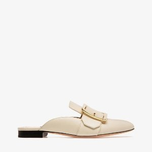 Bally35,39.5以上JANESSE 平跟穆勒鞋