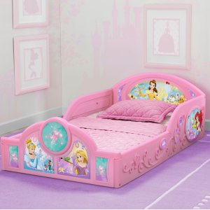 DisneyPrincess Plastic Sleep and Play Toddler Bed by Delta Children