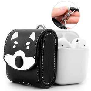 486fa256f73 AirPods Case, Snap Closure Protective Cover Carrying Pouch Pocket, with  Holding Strap, for