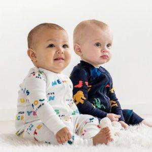 一律$25Hanna Andersson 有机棉婴儿连身睡衣促销