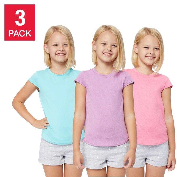 女童基础T恤3件套