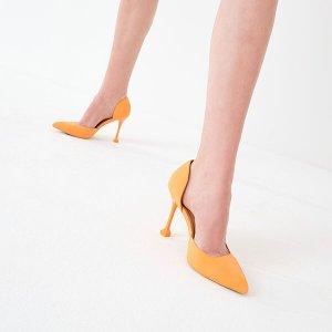 Andreaa 柠檬黄高跟鞋