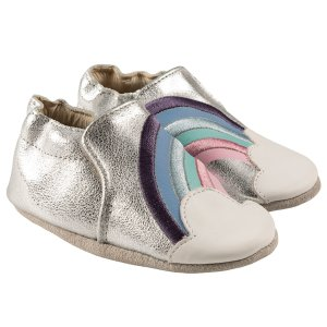 RobeezHope Soft Soles, Silver Leather