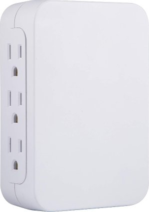 $7.39GE Pro 6 Outlet Wall Tap Surge Protector